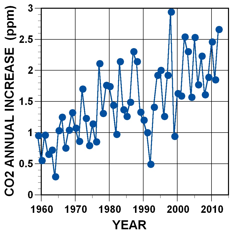 CO2 annual increase